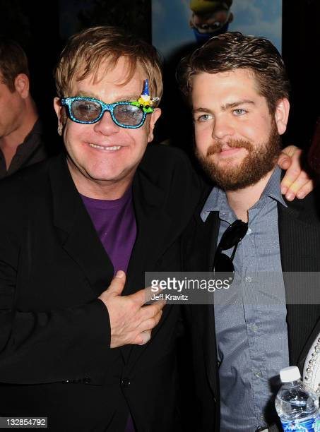 Executive producer Sir Elton John and TV Personality Jack Osbourne attend the Los Angeles premiere of 'Gnomeo and Juliet' after party at the The...
