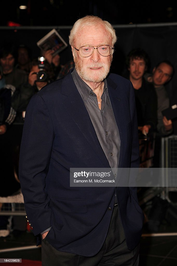 Executive Producer Sir <a gi-track='captionPersonalityLinkClicked' href=/galleries/search?phrase=Michael+Caine+-+Actor&family=editorial&specificpeople=159746 ng-click='$event.stopPropagation()'>Michael Caine</a> attends a screening of 'The Double' during the 57th BFI London Film Festival at Odeon West End on October 12, 2013 in London, England.>>