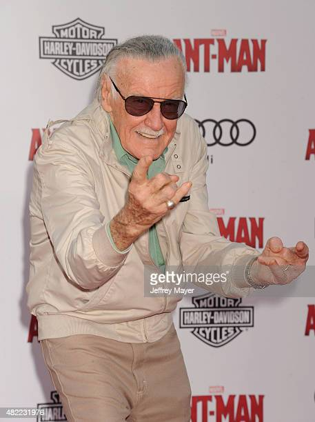 Executive producer Stan Lee arrives at the Los Angeles premiere of Marvel Studios 'AntMan' at Dolby Theatre on June 29 2015 in Hollywood California