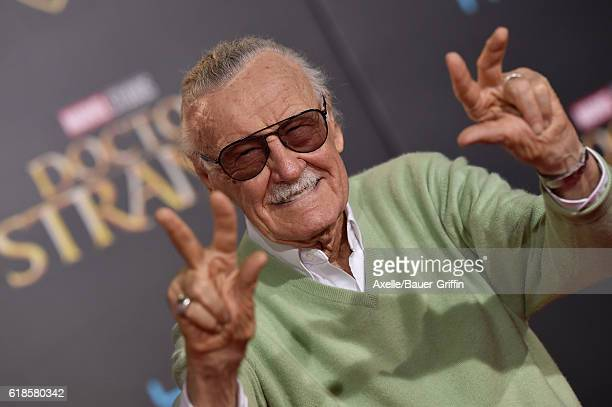 Executive producer Stan Lee arrives at the Los Angeles Premiere of 'Doctor Strange' on October 20 2016 in Hollywood California