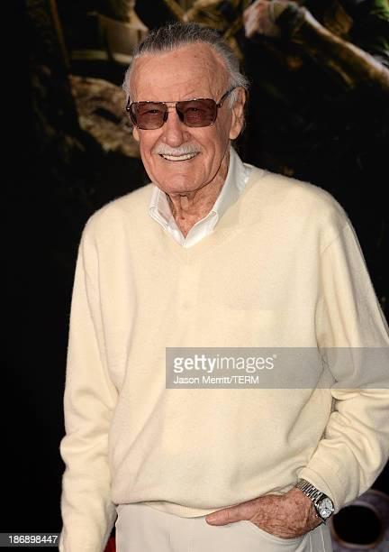 Executive producer Stan Lee arrives at the premiere of Marvel's 'Thor The Dark World' at the El Capitan Theatre on November 4 2013 in Hollywood...