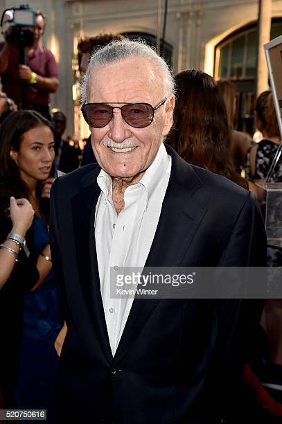 Executive producer Stan Lee attends the premiere of Marvel's 'Captain America Civil War' at Dolby Theatre on April 12 2016 in Los Angeles California