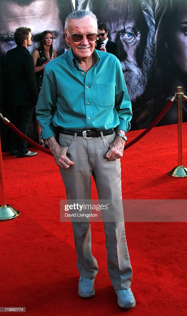 Executive producer <a gi-track='captionPersonalityLinkClicked' href=/galleries/search?phrase=Stan+Lee&family=editorial&specificpeople=206380 ng-click='$event.stopPropagation()'>Stan Lee</a> attends the premiere of Paramount Pictures' And Marvel's 'Thor' at the El Capitan Theatre on May 2, 2011 in Los Angeles, California.