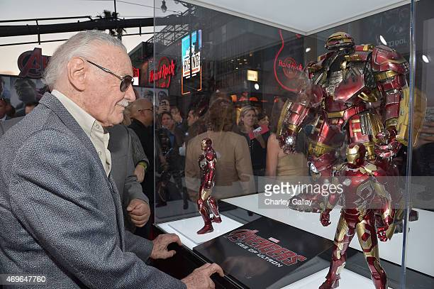 executive producer Stan Lee attends the world premiere of Marvel's 'Avengers Age Of Ultron' at the Dolby Theatre on April 13 2015 in Hollywood...