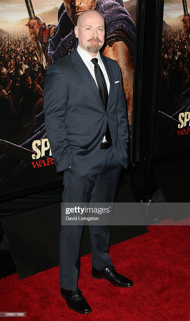 Executive producer Steven S. DeKnight attends the premiere of Starz's 'Spartacus: War of the Damned' at Regal Cinemas L.A. Live on January 22, 2013 in Los Angeles, California.