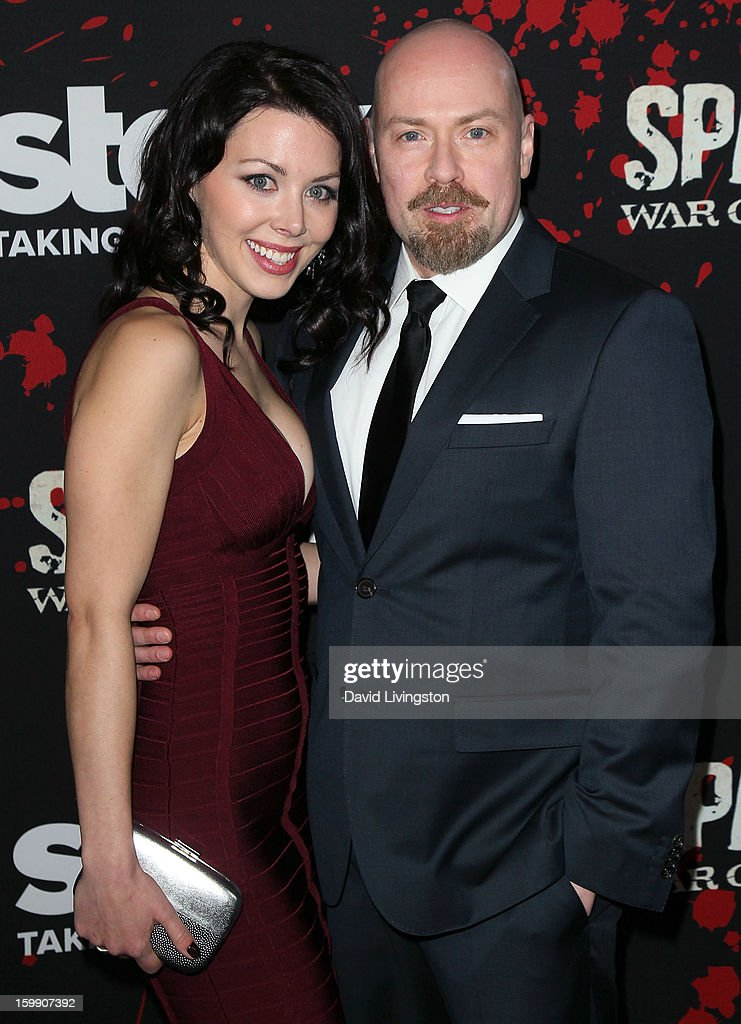 Executive producer Steven S. DeKnight (R) attends the premiere of Starz's 'Spartacus: War of the Damned' at Regal Cinemas L.A. Live on January 22, 2013 in Los Angeles, California.