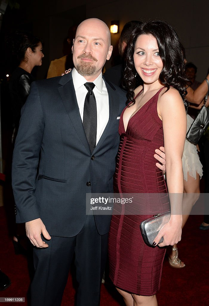 Executive producer Steven S. DeKnight (L) attends the 'Spartacus: War Of The Damned' premiere at Regal Cinemas L.A. LIVE Stadium 14 on January 22, 2013 in Los Angeles, California.