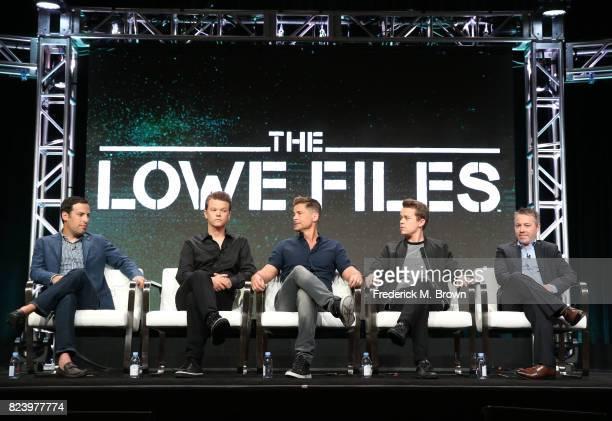 Executive producer Tom Forman Matthew Lowe executive producer Rob Lowe John Owen Lowe and executive producer Jon Beyer of 'The Lowe Files ' speak...