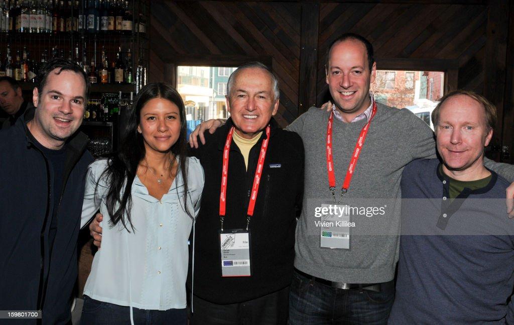 Executive producer Tom Heller, Carolina Medina, executive producer Gareth Smith, George Heller and Joe Lazarus attend the UK Film Brunch at Sundance - 2013 Park City on January 20, 2013 in Park City, Utah.