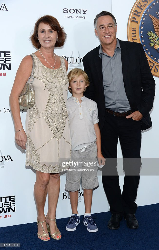 Executive producer Ute Emmerich (L) attends 'White House Down' New York premiere at Ziegfeld Theater on June 25, 2013 in New York City.