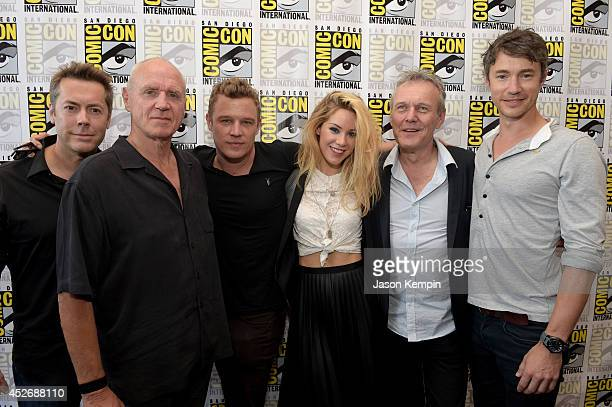 Executive producer Vaun Wilmott actor Alan Dale actor Christopher Egan actress Roxanne McKee actor Anthony Head and actor Tom Wisdom attend the...