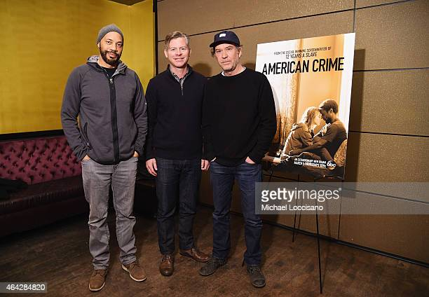 Executive producer writer and show creator John Ridley executive producer Michael MacDonald and actor Timothy Hutton attend the Entertainment Weekly...
