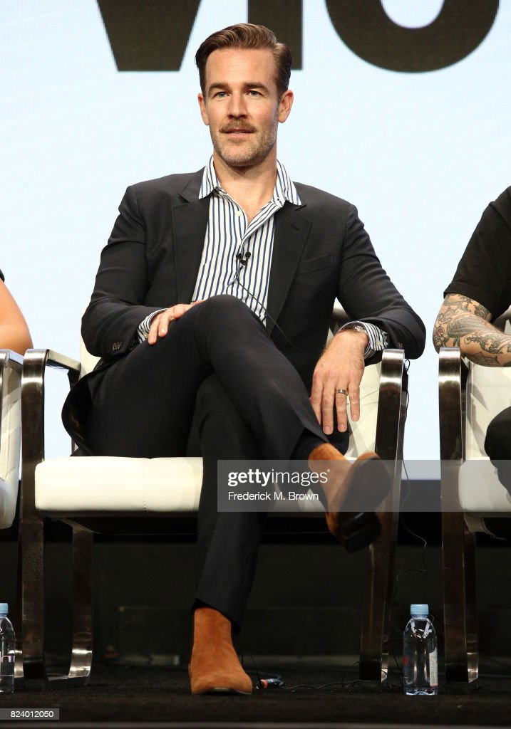 Executive producer/actor James Van Der Beek of 'What Would Diplo Do?' speaks onstage during the Viceland portion of the 2017 Summer Television Critics Association Press Tour at The Beverly Hilton Hotel on July 28, 2017 in Beverly Hills, California.