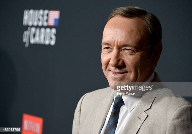 Executive producer/actor Kevin Spacey arrives at the special screening of Netflix's 'House of Cards' Season 2 at the Directors Guild Of America on...