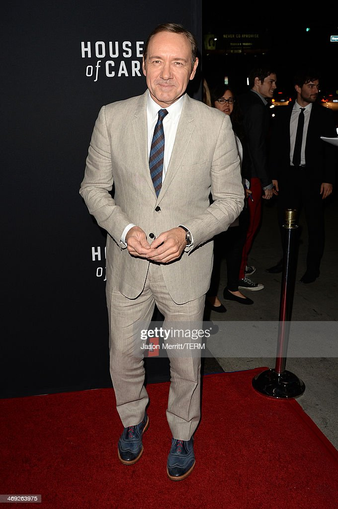 Executive producer/actor Kevin Spacey arrives at the special screening of Netflix's 'House of Cards' Season 2 at the Directors Guild of America on February 13, 2014 in Los Angeles, California.