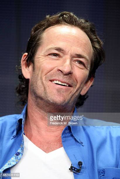Executive producer/actor Luke Perry speaks onstage during the 'Welcome Home' panel discussion at the UP Entertainment portion of the 2015 Summer TCA...
