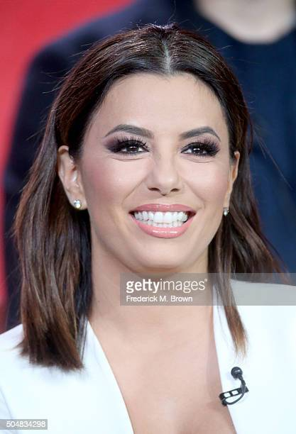 Executive producer/Actress Eva Longoria speaks onstage during the 'Telenovela' panel discussion at the NBCUniversal portion of the 2015 Winter TCA...