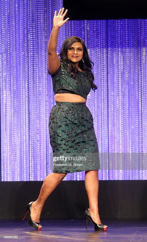 Executive Producer/Actress Mindy Kaling speaks during The Paley Center for Media's PaleyFest 2014 Honoring 'The Mindy Project' at the Dolby Theatre...
