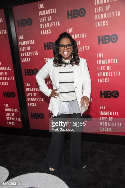 Executive Producer/Actress Oprah Winfrey attends 'The Immortal Life Of Henrietta Lacks' New York Premiere at SVA Theater on April 18 2017 in New York...