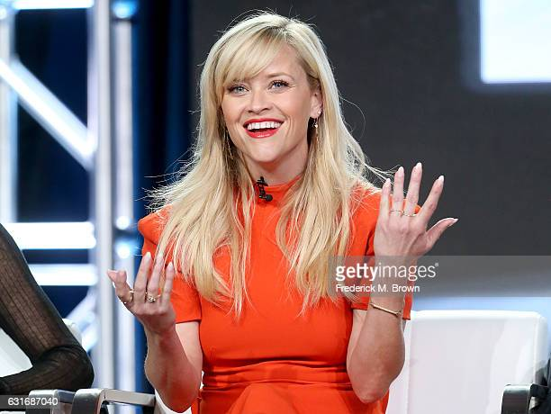 Executive producer/actress Reese Witherspoon of the series 'Big Little Lies' speaks onstage during the HBO portion of the 2017 Winter Television...
