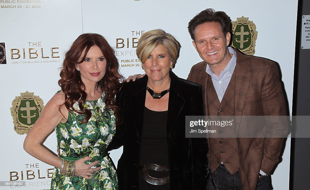 Executive Producer/actress Roma Downey, tv personality Suze Orman and executive producer Mark Burnett attend 'The Bible Experience' Opening Night Gala at The Bible Experience on March 19, 2013 in New York City.