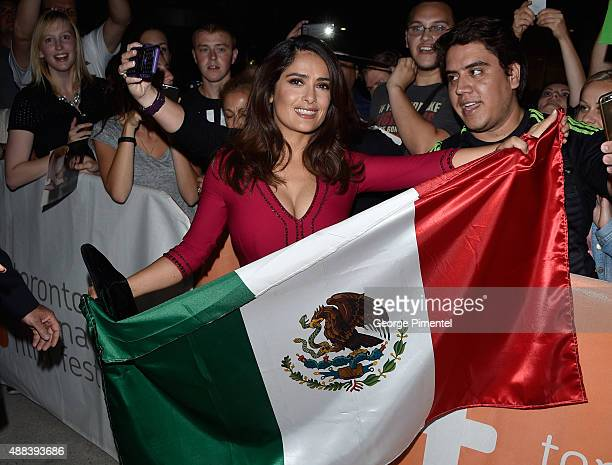 Executive producer/actress Salma Hayek attends the 'Septembers of Shiraz' premiere during the 2015 Toronto International Film Festival at Roy Thomson...