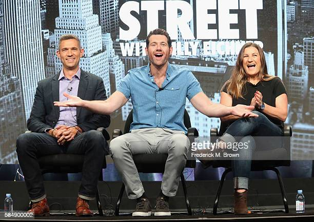 Executive producer/CEO at Funny or Die Mike Farah host/executive producer Billy Eichner and executive producer/VP of Production at Funny or Die Anna...