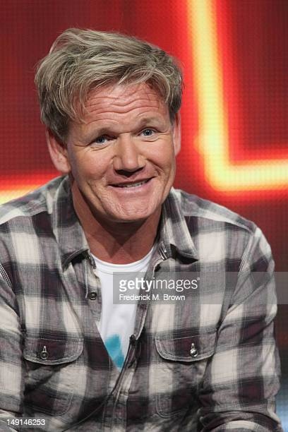 Executive Producer/Chef and Hospitality Expert Gordon Ramsay speak onstage at the 'Hotel Hell' panel during day 3 of the FOX portion of the 2012...