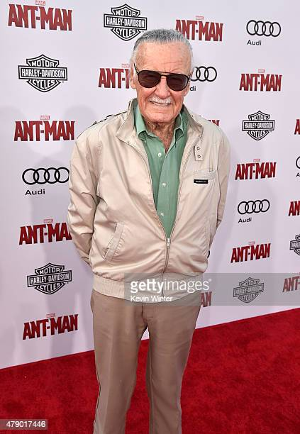 Executive producer/comic book icon Stan Lee attends the premiere of Marvel's 'AntMan' at the Dolby Theatre on June 29 2015 in Hollywood California