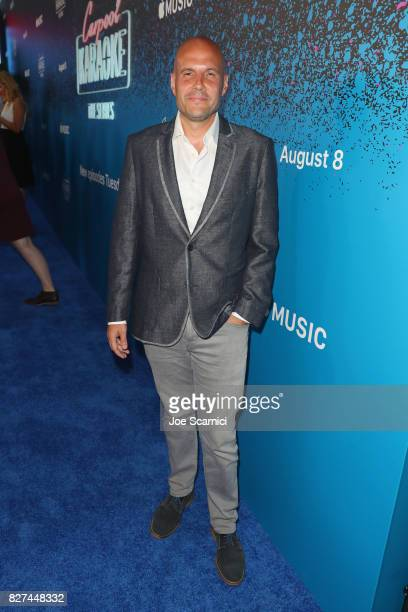 CBS executive producer/creative executive Eric Pankowski at Apple Music Launch Party Carpool Karaoke The Series with James Corden on August 7 2017 in...