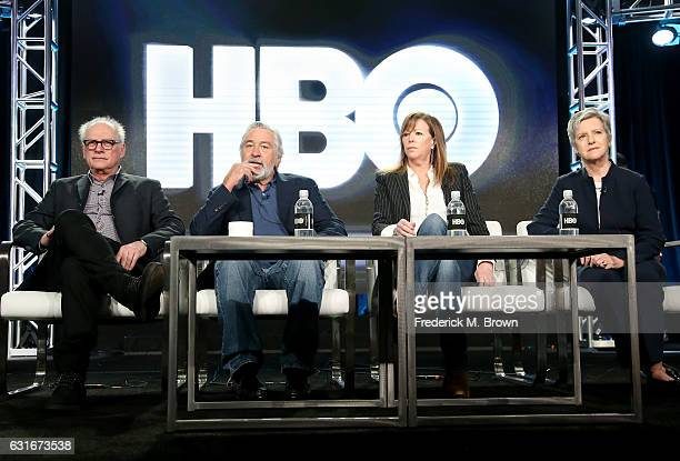 Executive producer/director Barry Levinson executive producer/actor Robert De Niro executive producer Jane Rosenthal and author/consultant Diana...