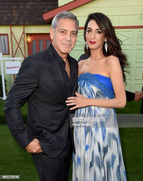 Executive producer/director George Clooney and his wife Amal Clooney arrive at the premiere of Paramount Pictures' 'Suburbicon' at the Village...