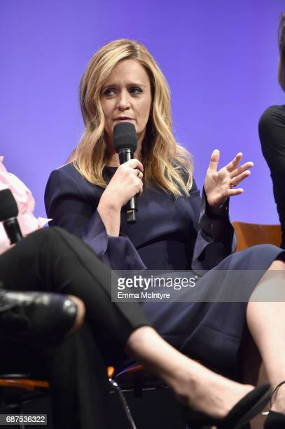Executive producer/host Samantha Bee speaks onstage at the Full Frontal with Samantha Bee FYC Event 2017 LA at the Samuel Goldwyn Theater on May 23...