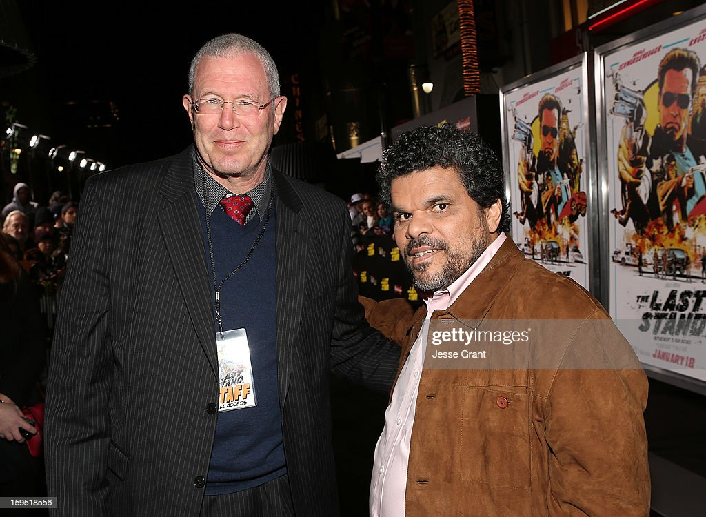 Executive Producer/Lionsgate's Films Productions President Michael Paseornek and Luis Guzman attend 'The Last Stand' World Premiere at Grauman's Chinese Theatre on January 14, 2013 in Hollywood, California.