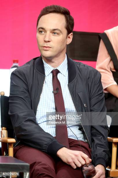 Executive producer/narrator Jim Parsons of 'Young Sheldon' speaks onstage during the CBS portion of the 2017 Summer Television Critics Association...