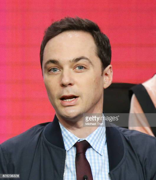 Executive producer/narrator Jim Parsons of 'Young Sheldon' speaks onstage during the 2017 Summer TCA Tour CBS Panels held at Various Locations on...