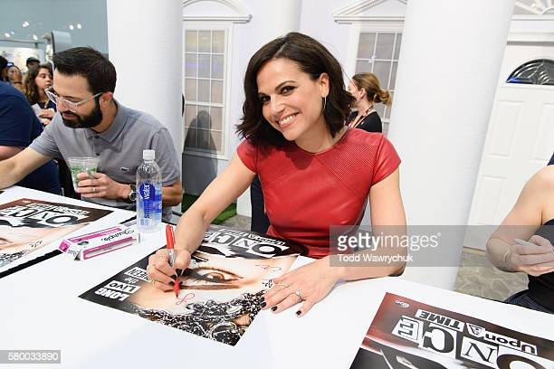 TIME Executive producers and cast of 'Once Upon a Time' were featured at the ComicCon Convention in San Diego California on July 23 2016 LANA