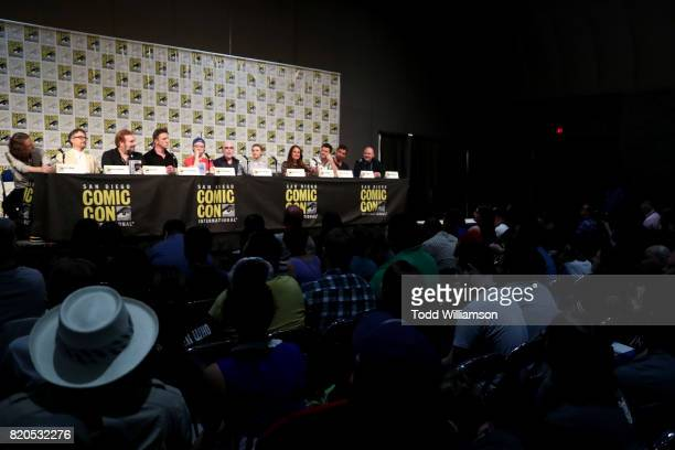 Executive producers Ben Edlund Barry Josephson and David Fury and actors Peter Serafinowicz Griffin Newman Jackie Earle Haley Valorie Curry Yara...