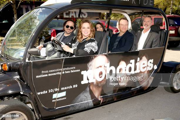 Executive producers Ben Falcone and Melissa McCarthy along with cast members/executive producers Rachel Ramras Larry Dorf Hugh Davidson and...