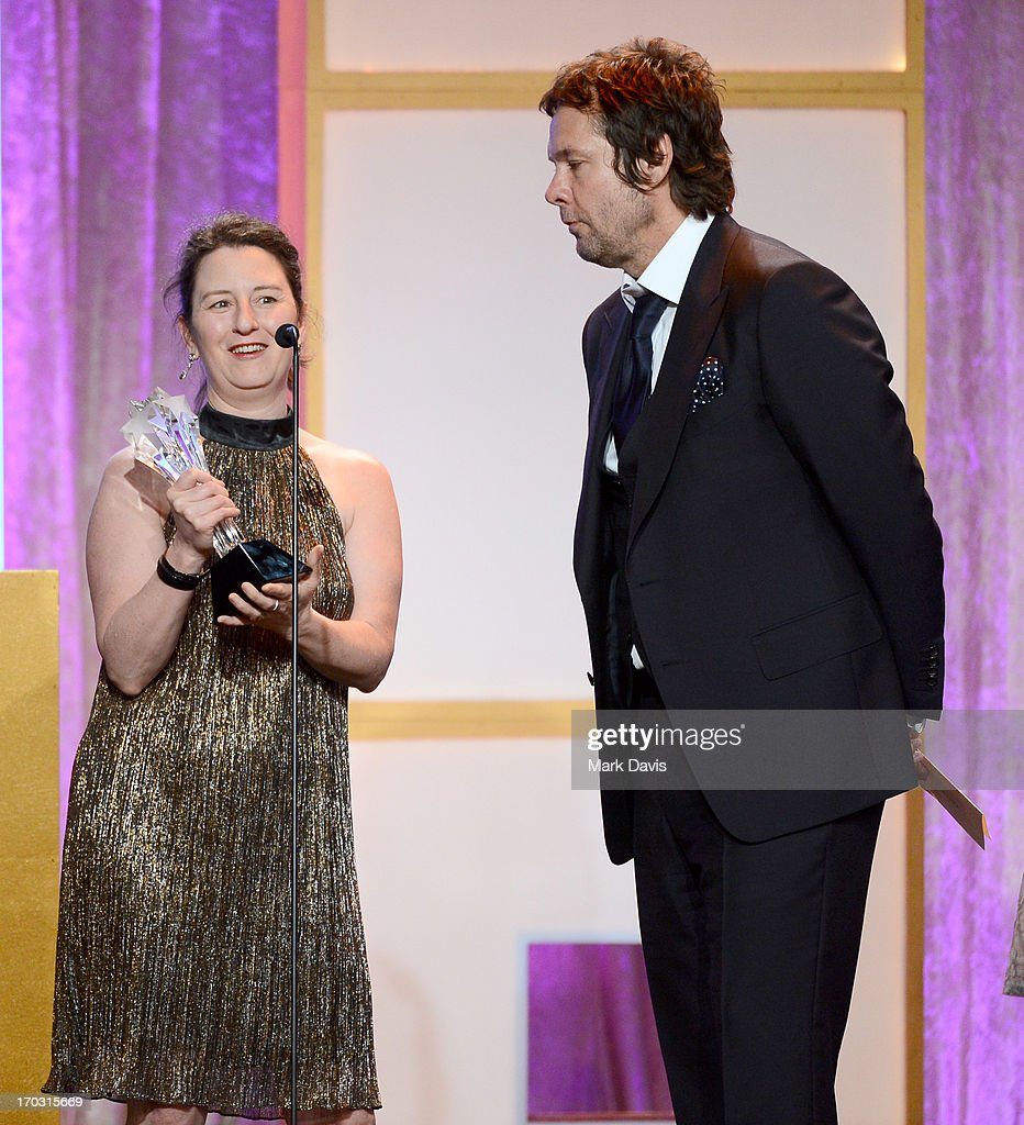 Executive producers Blair Breard (L) and Dave Becky accept the Best Actor in a Comedy Series award for Louis C.K. in 'Louis' onstage during Broadcast Television Journalists Association's third annual Critics' Choice Television Awards at The Beverly Hilton Hotel on June 10, 2013 in Los Angeles, California.