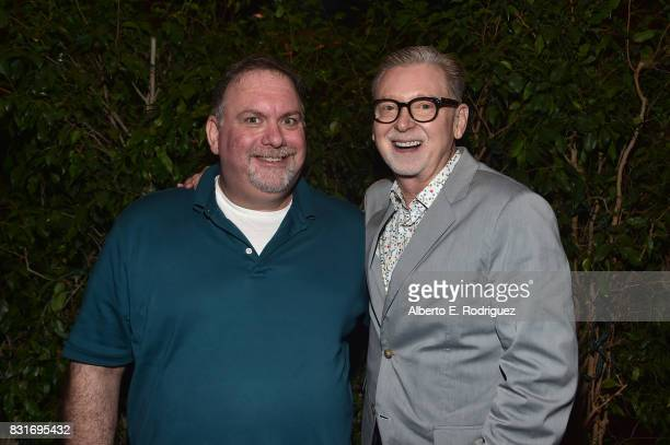 Executive producers Bruce Miller and Warren Littlefield attend the after party for the FYC event for Hulu's 'The Handmaid's Tale' on August 14 2017...