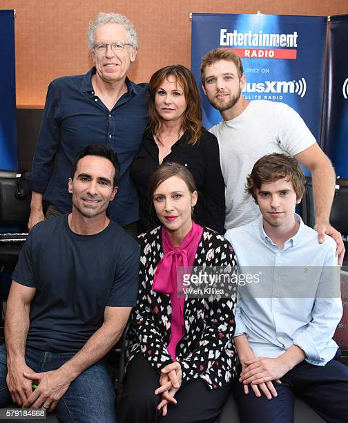 Executive producers Carlton Cuse and Kerry Ehrin and actors Max Thieriot Nestor Carbonell Vera Farmiga and Freddie Highmore attend SiriusXM's...