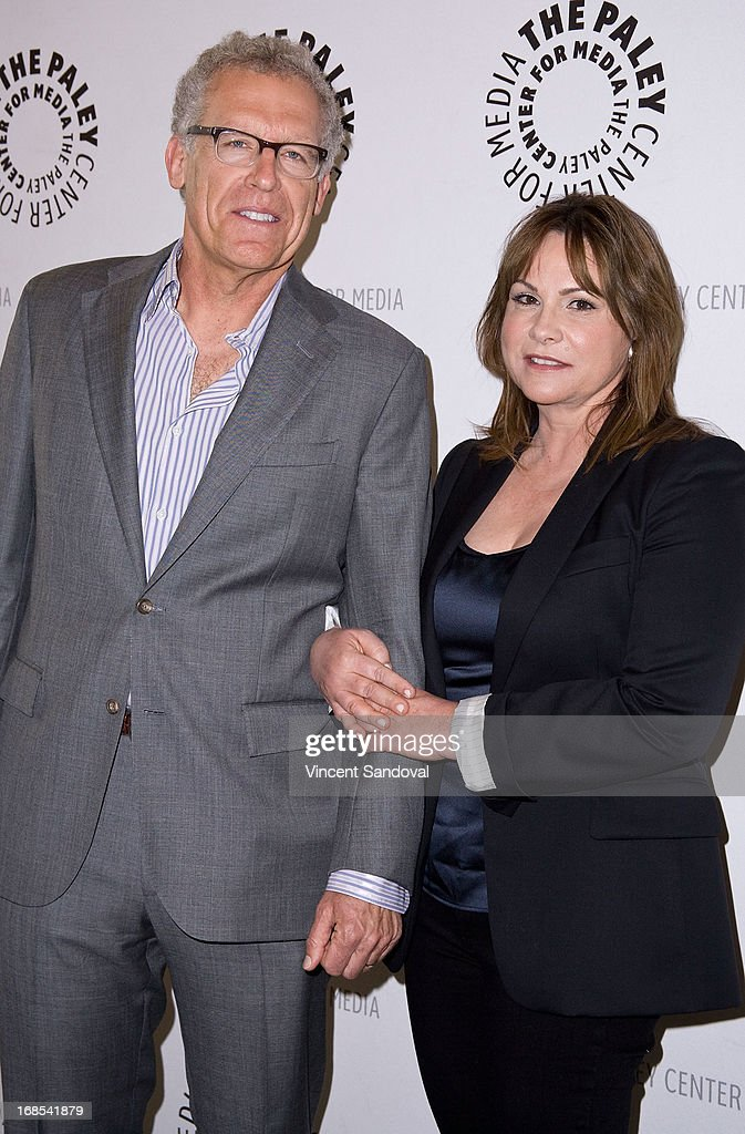 Executive producers <a gi-track='captionPersonalityLinkClicked' href=/galleries/search?phrase=Carlton+Cuse&family=editorial&specificpeople=854249 ng-click='$event.stopPropagation()'>Carlton Cuse</a> and Kerry Ehrin attend The Paley Center For Media presents 'Bates Motel: Reimagining a Cinema Icon' at The Paley Center for Media on May 10, 2013 in Beverly Hills, California.