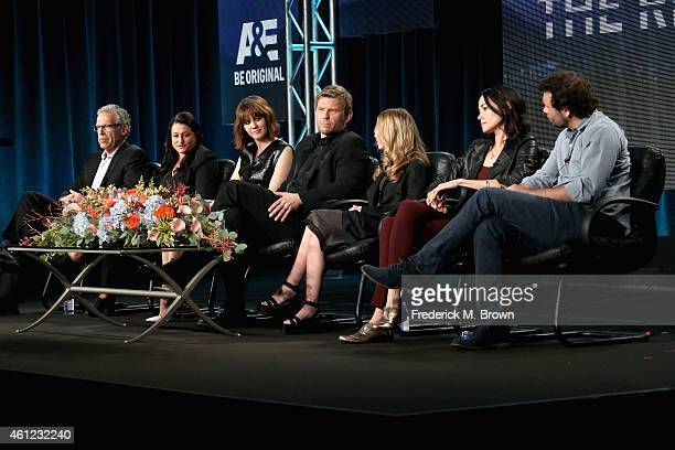 PASADENA CA JANUARY Executive Producers Carlton Cuse and Raelle Tucker actors Mary Elizabeth Winstead Mark Pellegrino India Ennenga Sandrine Holt and...