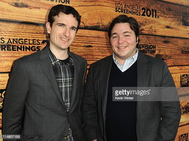 Executive producers Craid Thomas and Carter Bays attend a starstudded party hosted by Twentieth Century Fox Television Distribution at the Fox Lot on...