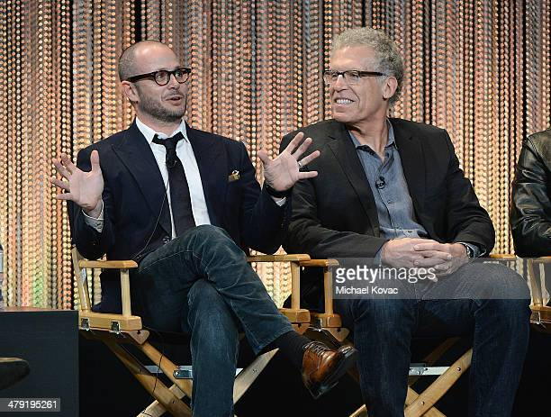 Executive producers Damon Lindelof and Carlton Cuse participate in a panel discussion at The Paley Center For Media's PaleyFest 2014 Honoring 'Lost...