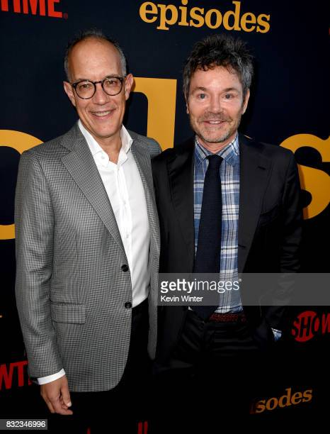Executive producers David Crane and Jeffrey Klarik arrive at a party for the final season of Showtime Networks 'Episodes' at The Nice Guy on August...