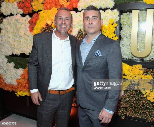 Executive producers DEFY Media Jared Hoffman and Chris Pollack at truTV's 'Upscale with Prentice Penny' Premiere at The London Hotel on March 21 2017...