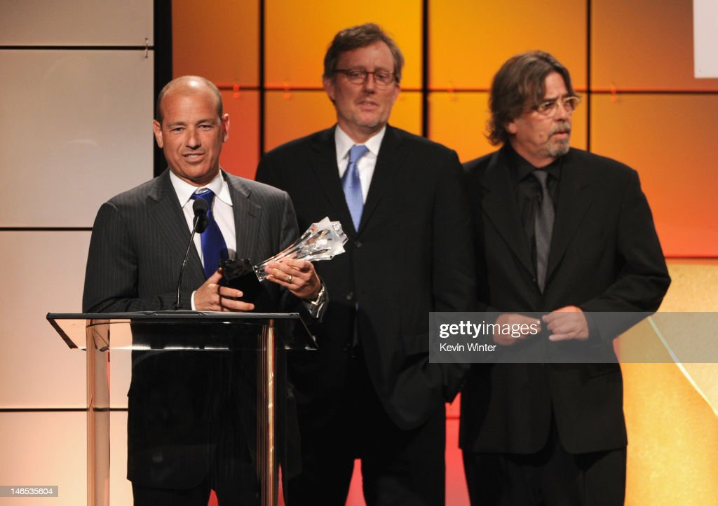 Executive producers Howard Gordon and (C) Alex Gansa of Homeland accept the award for 'Best Drama Series' onstage during The Broadcast Television Journalists Association Second Annual Critics' Choice Awards at The Beverly Hilton Hotel on June 18, 2012 in Beverly Hills, California.