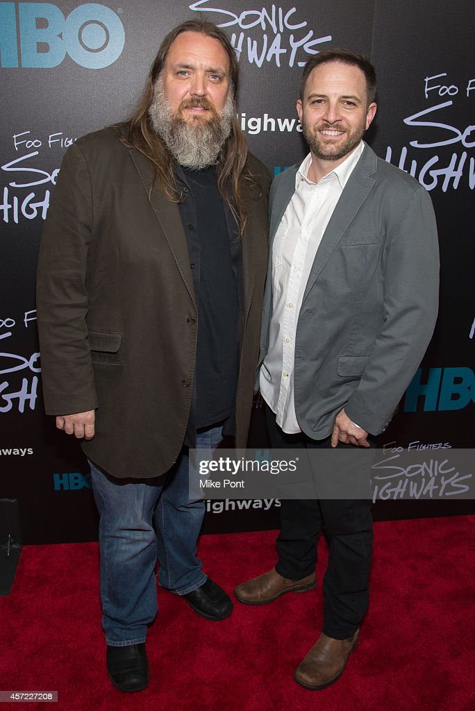 Executive Producers James A. Rota and John Ramsay attend the 'Foo Fighters: Sonic Highways' New York Premiere at Ed Sullivan Theater on October 14, 2014 in New York City.